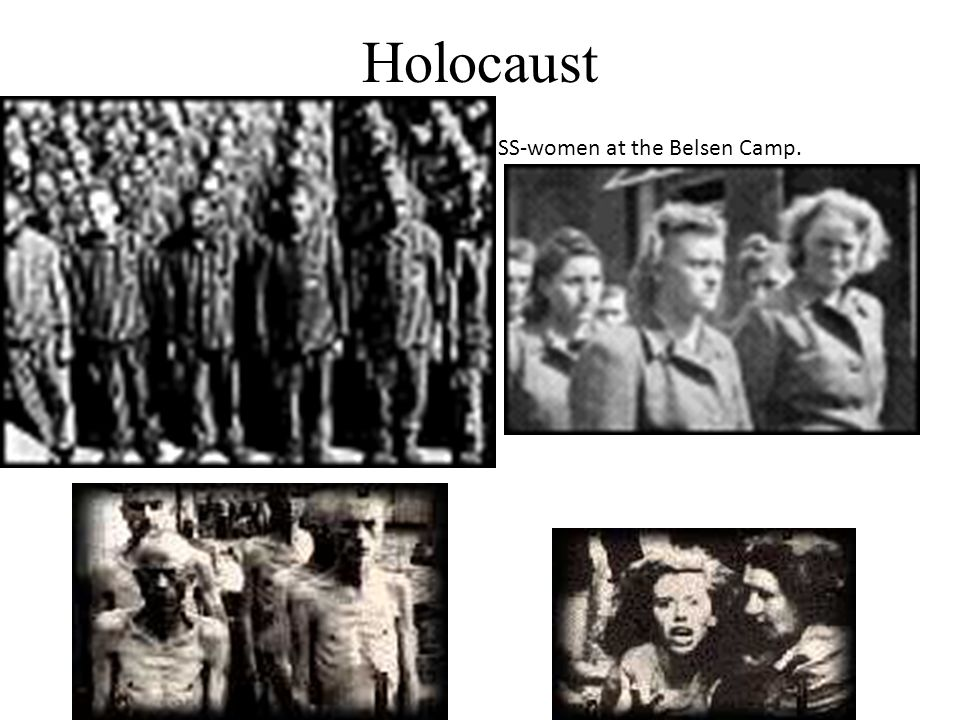 Holocaust SS-women at the Belsen Camp.