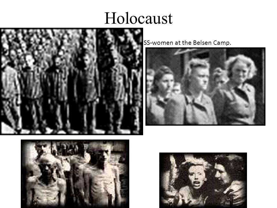 Holocaust SS-women at the Belsen Camp.