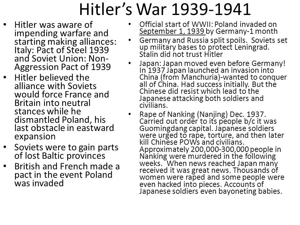 Hitler's War 1939-1941