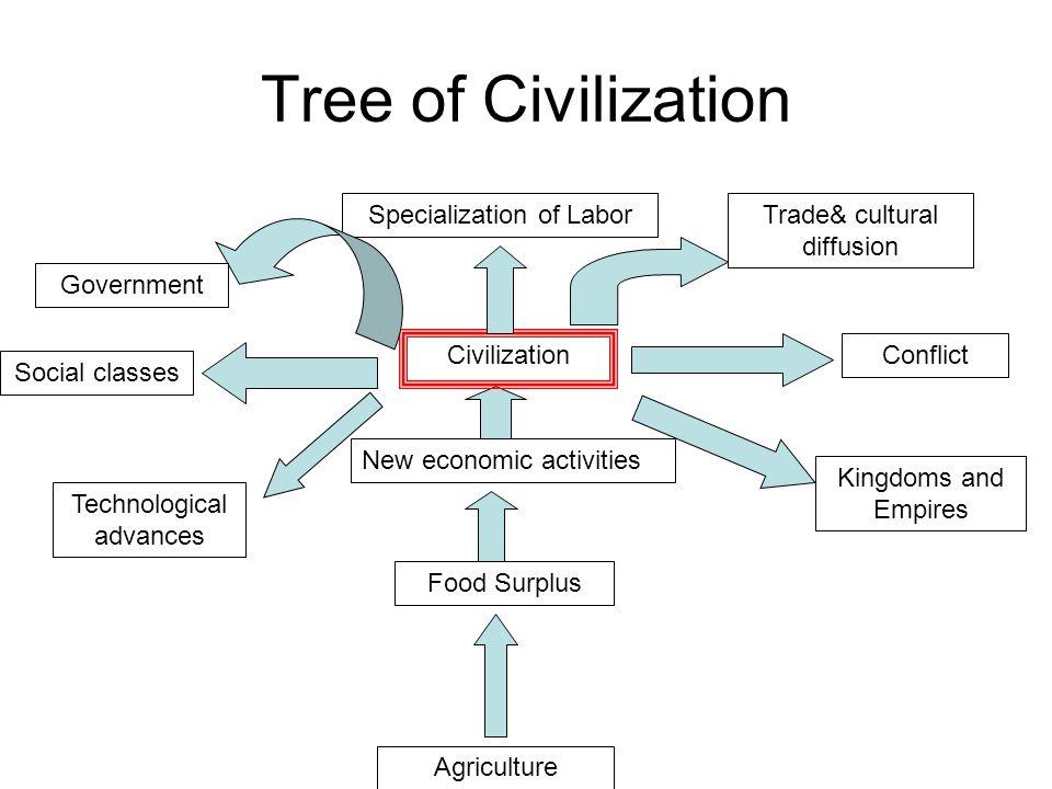Tree of Civilization Specialization of Labor Trade& cultural diffusion