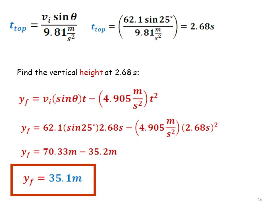 Find the vertical height at 2.68 s: