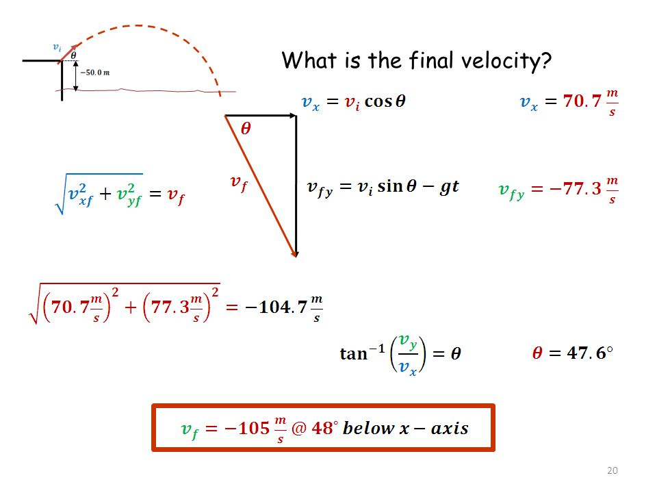 What is the final velocity