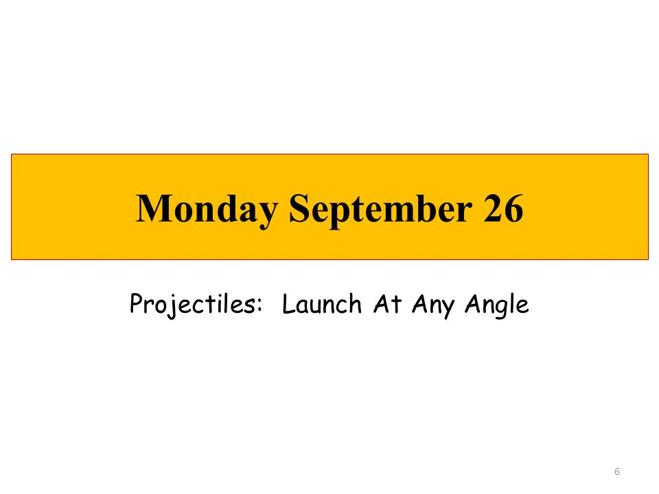 Projectiles: Launch At Any Angle