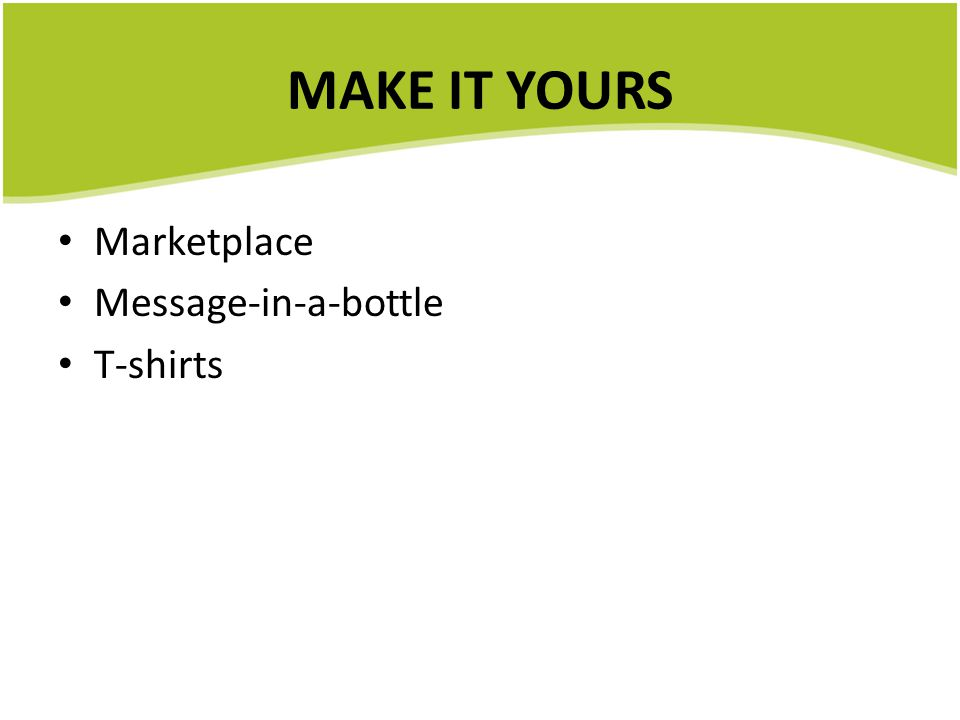 MAKE IT YOURS Marketplace Message-in-a-bottle T-shirts