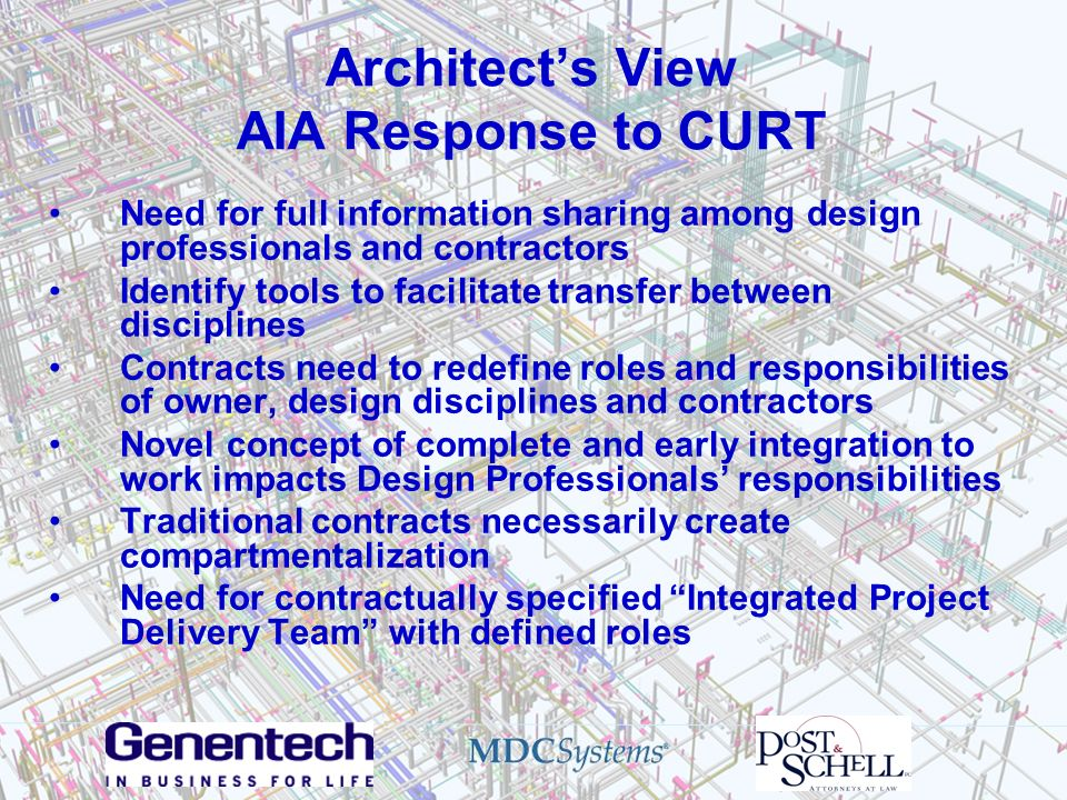 Architect's View AIA Response to CURT