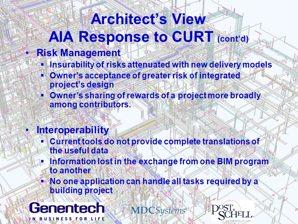 Architect's View AIA Response to CURT (cont'd)