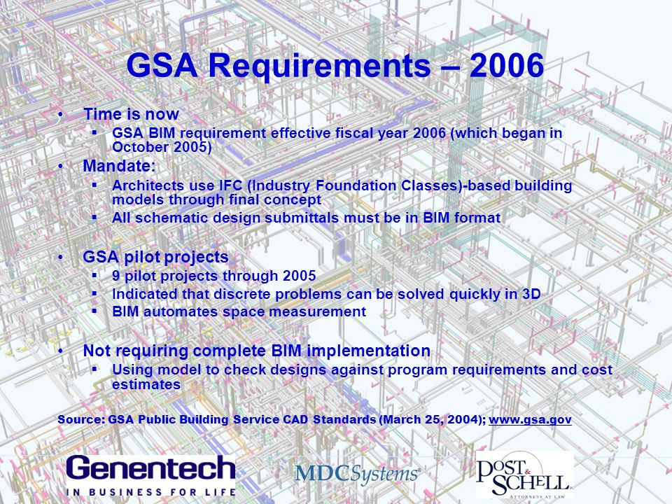 GSA Requirements – 2006 Time is now Mandate: GSA pilot projects