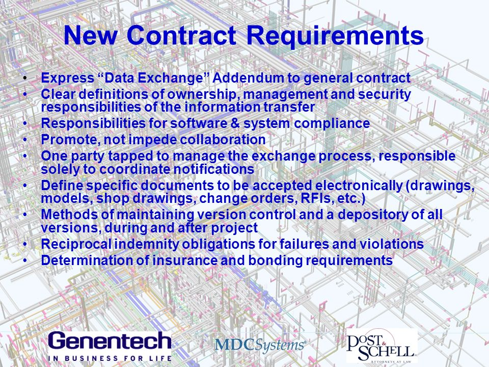 New Contract Requirements