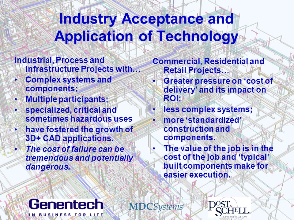 Industry Acceptance and Application of Technology