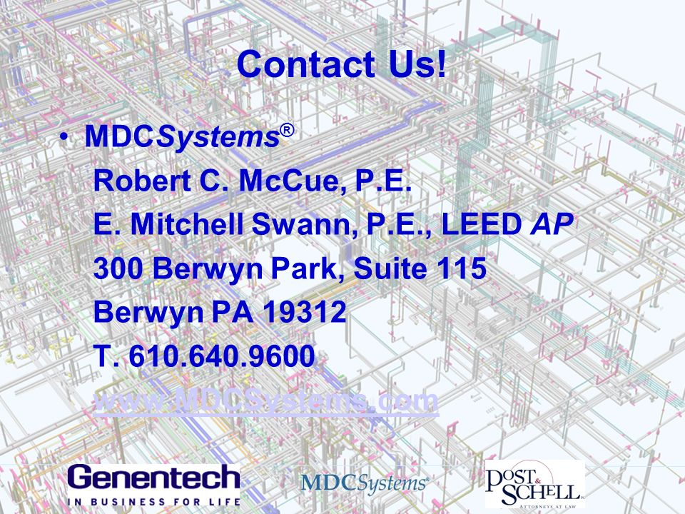 Contact Us! MDCSystems® Robert C. McCue, P.E.