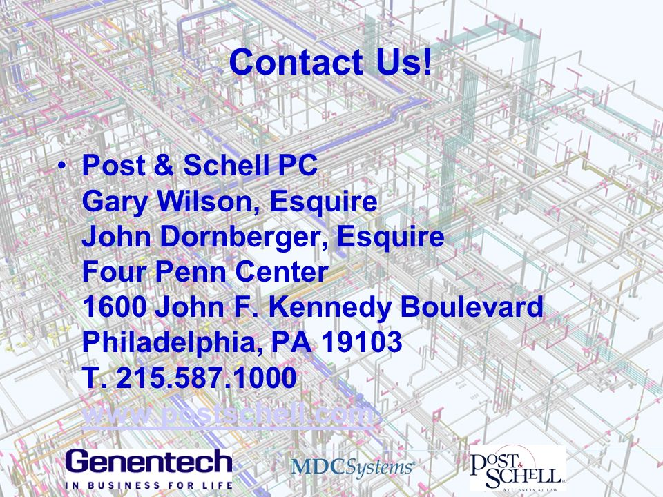 Contact Us! Post & Schell PC Gary Wilson, Esquire