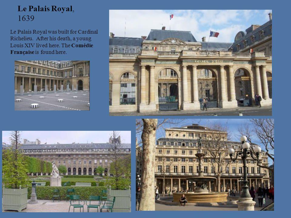 Le Palais Royal, 1639