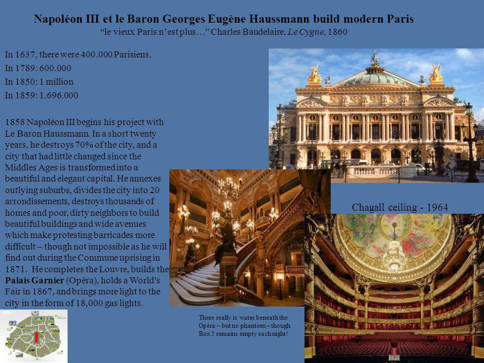 Napoléon III et le Baron Georges Eugène Haussmann build modern Paris le vieux Paris n'est plus… Charles Baudelaire, Le Cygne, 1860