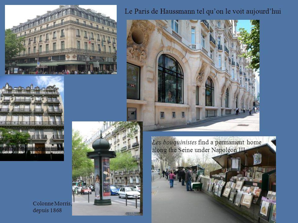 Le Paris de Haussmann tel qu'on le voit aujourd'hui