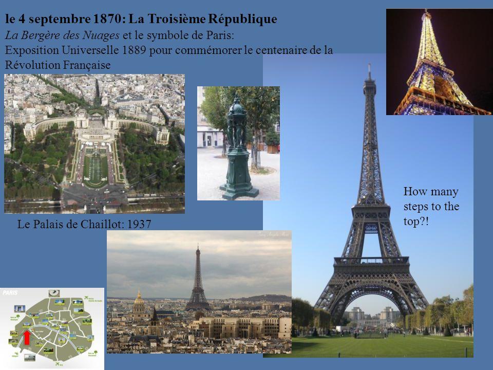 le 4 septembre 1870: La Troisième République