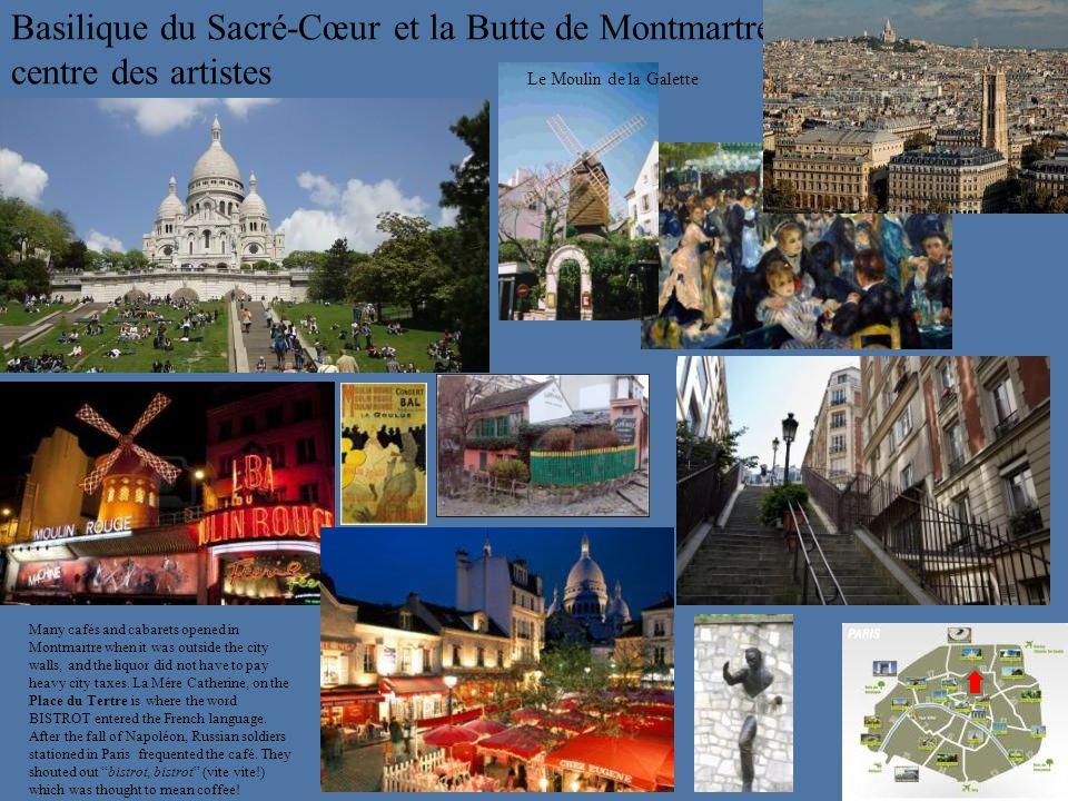 Basilique du Sacré-Cœur et la Butte de Montmartre centre des artistes