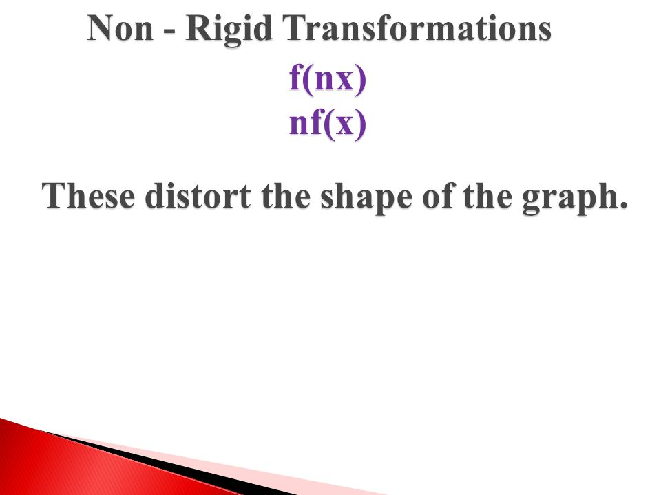 Non - Rigid Transformations