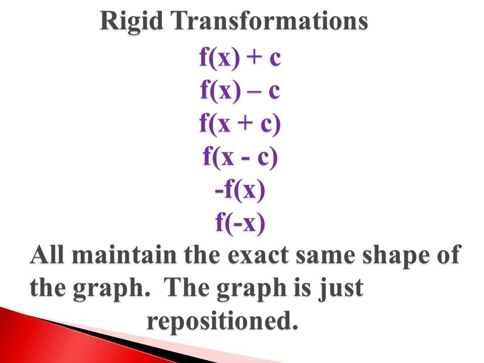 Rigid Transformations