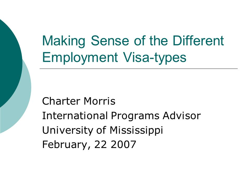 Making Sense of the Different Employment Visa-types