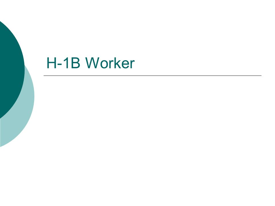 H-1B Worker
