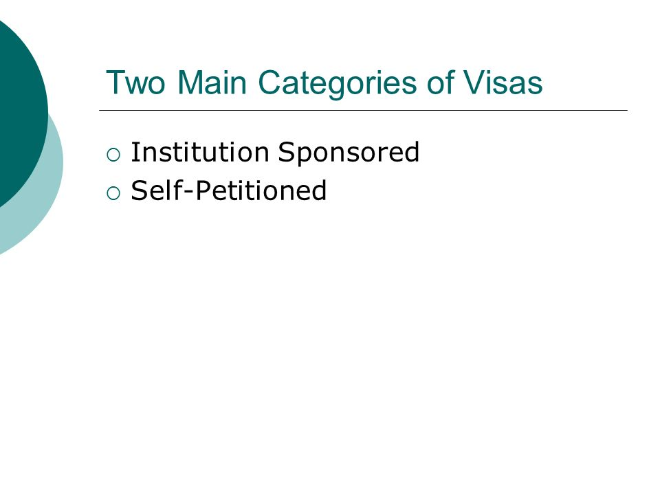 Two Main Categories of Visas