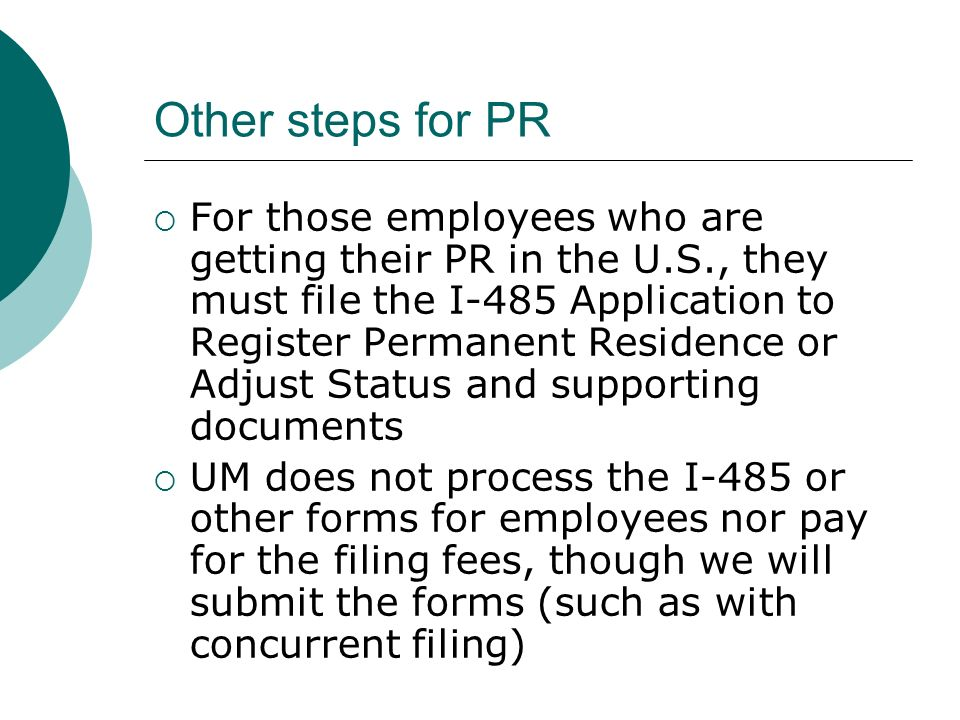 Other steps for PR