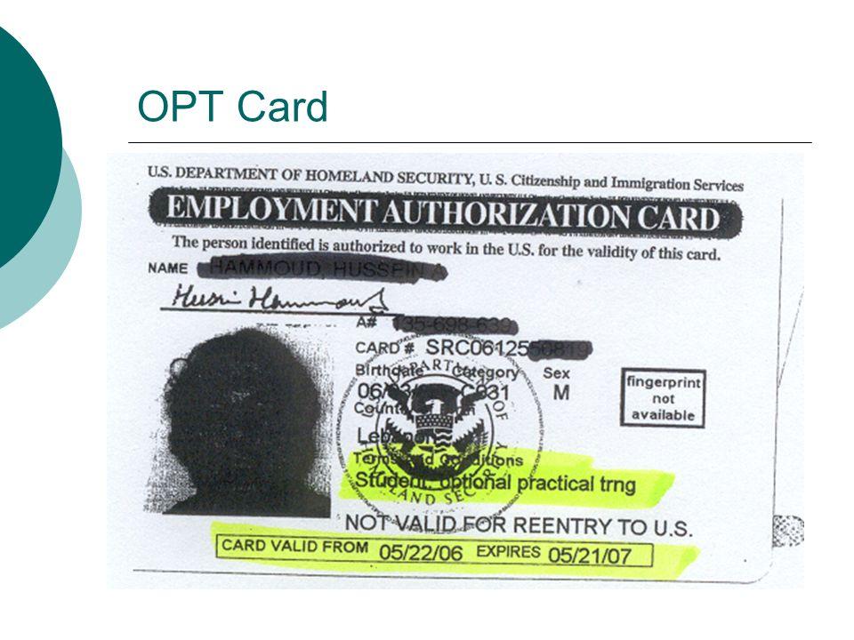 OPT Card