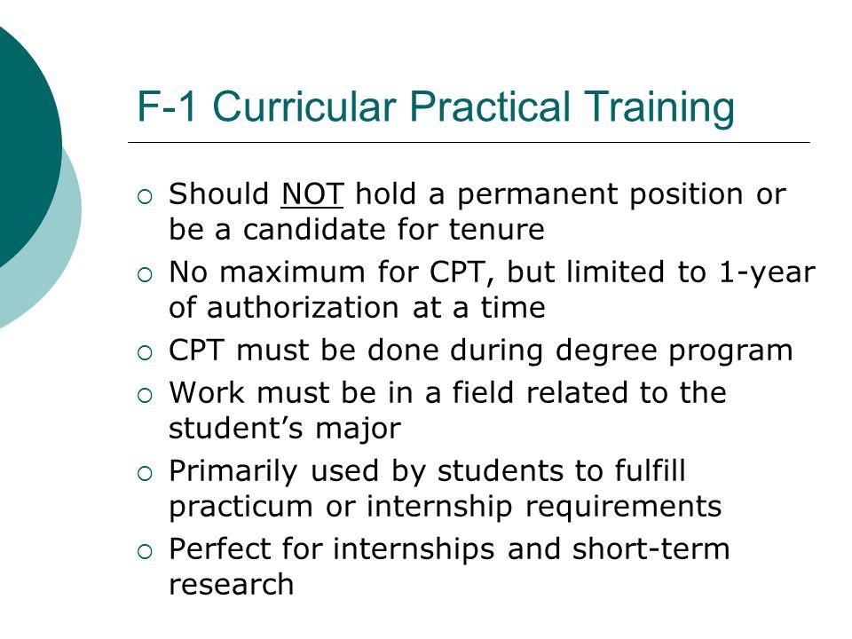 F-1 Curricular Practical Training