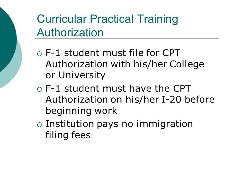 Curricular Practical Training Authorization
