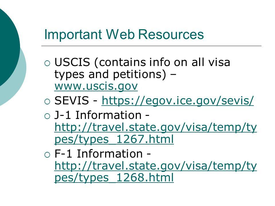 Important Web Resources
