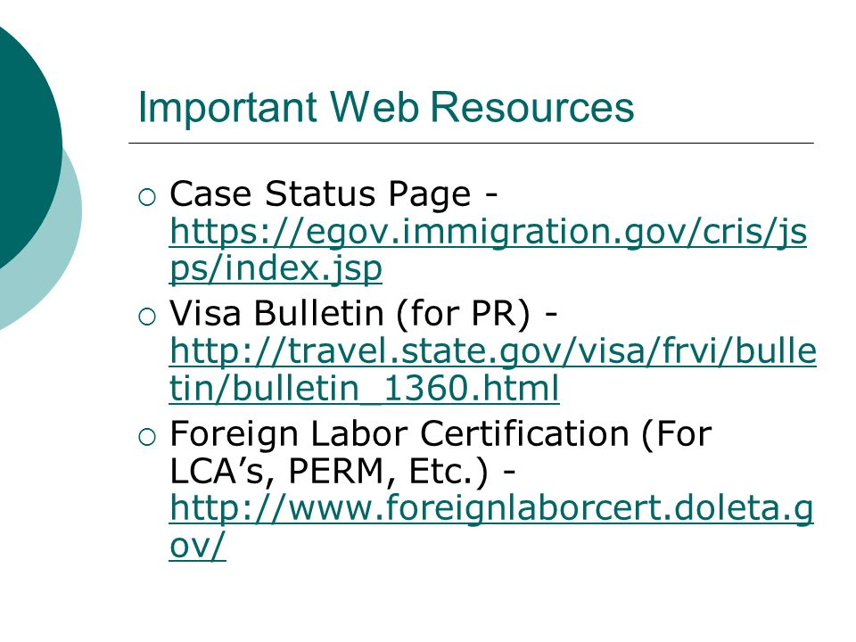 Important Web Resources