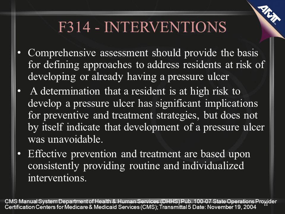 F314 - INTERVENTIONS