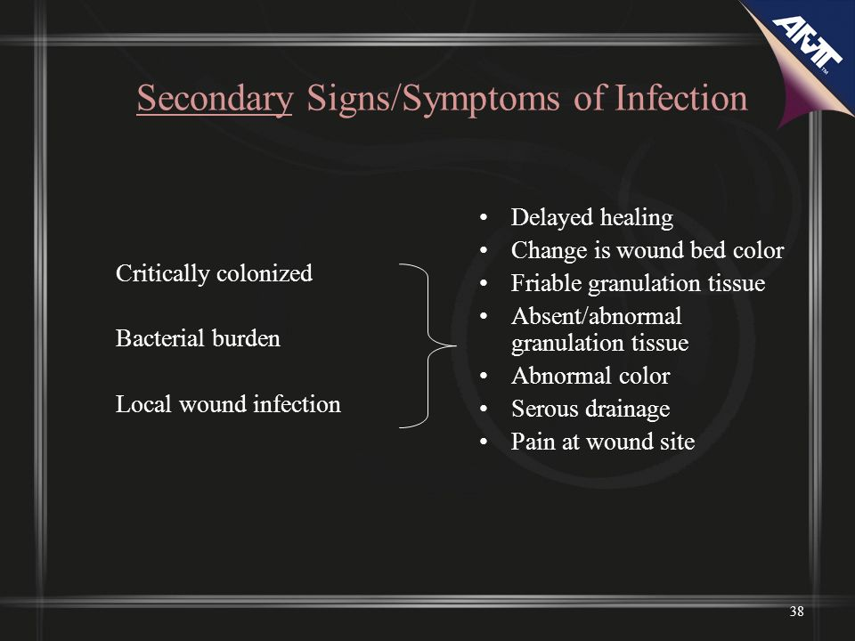 Secondary Signs/Symptoms of Infection