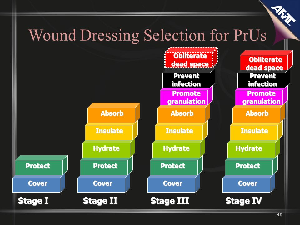 Wound Dressing Selection for PrUs