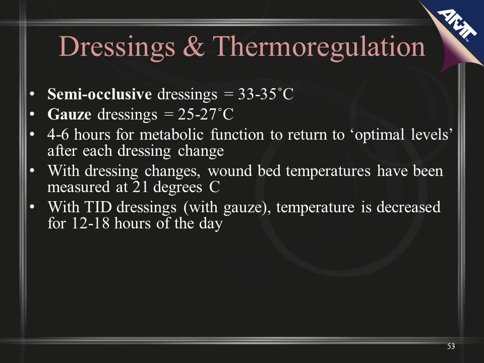 Dressings & Thermoregulation