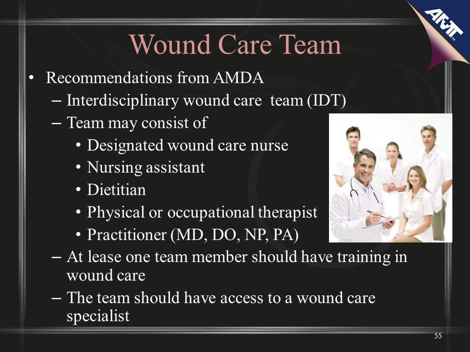Wound Care Team Recommendations from AMDA