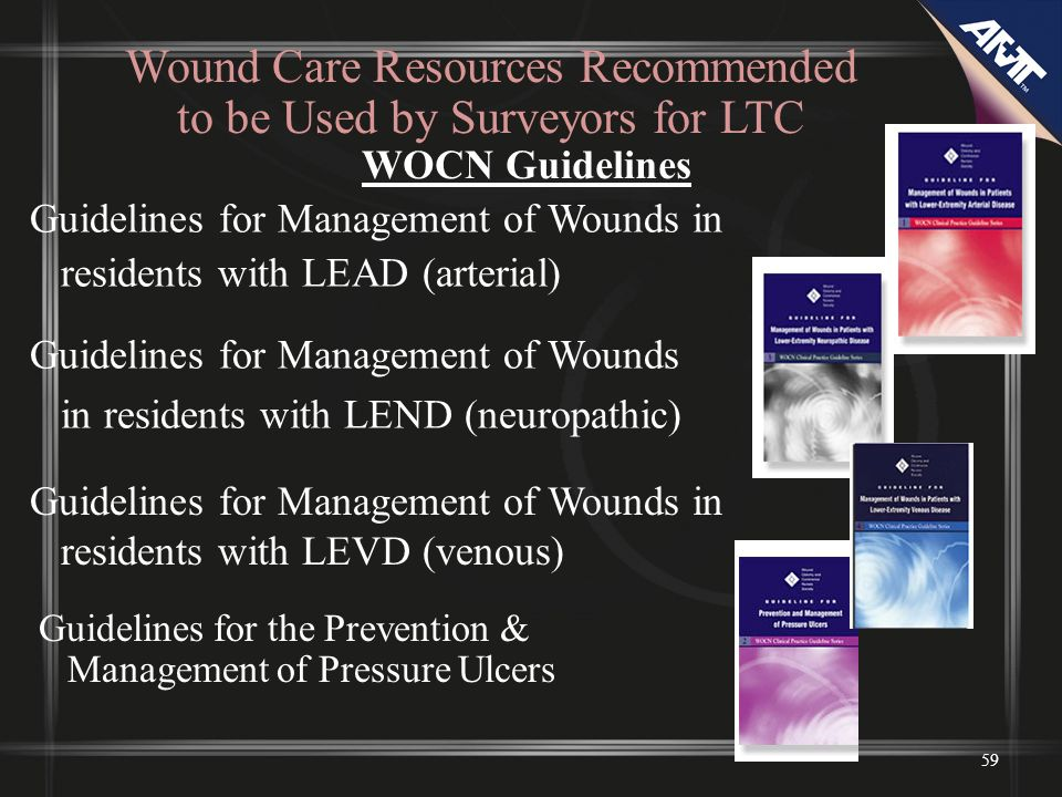 Wound Care Resources Recommended to be Used by Surveyors for LTC