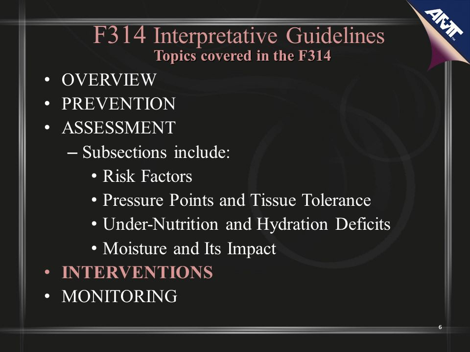 F314 Interpretative Guidelines