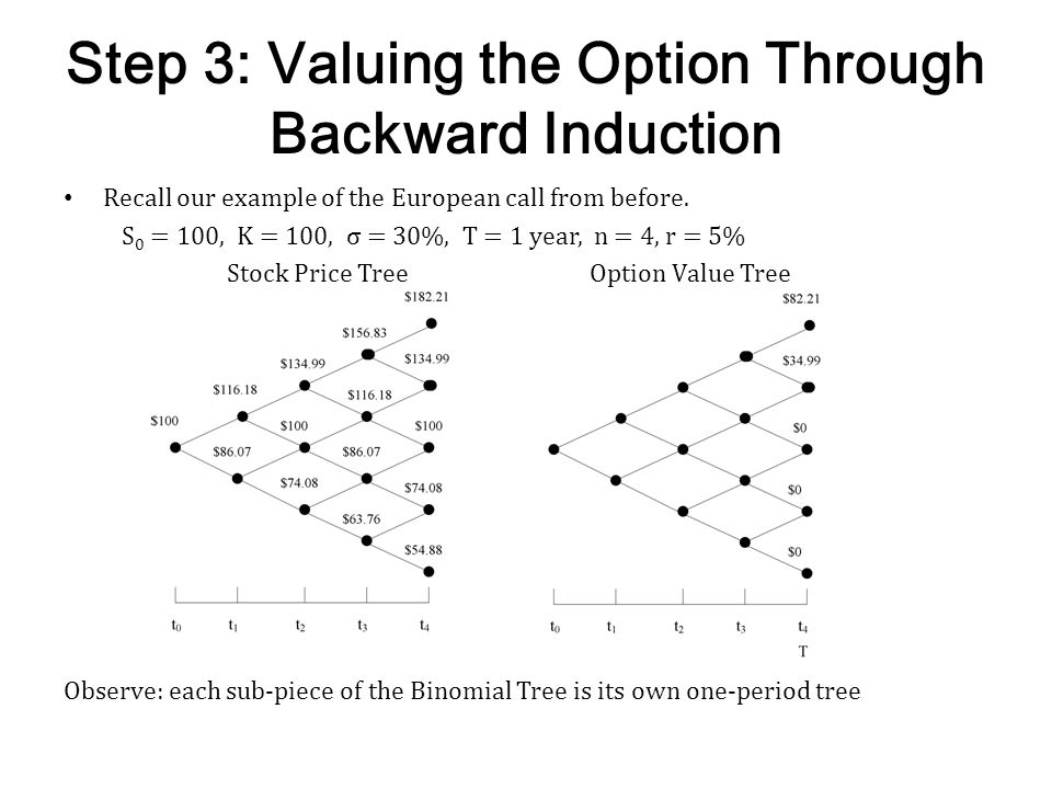 Step 3: Valuing the Option Through Backward Induction
