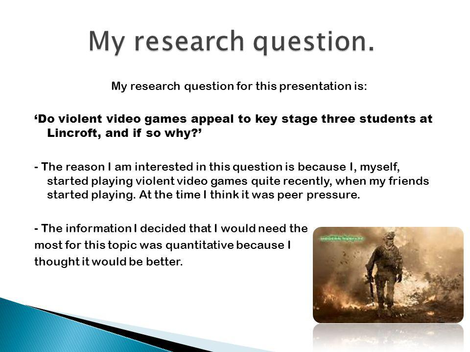 My research question.