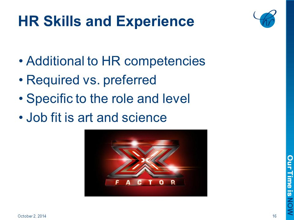 HR Skills and Experience