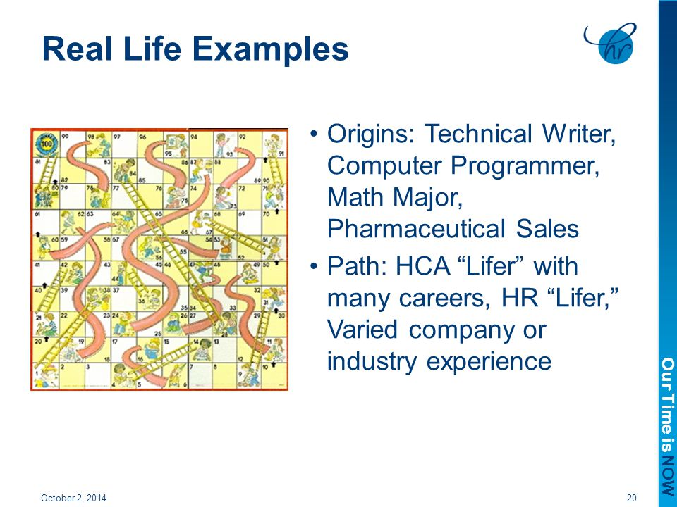Real Life Examples Origins: Technical Writer, Computer Programmer, Math Major, Pharmaceutical Sales.