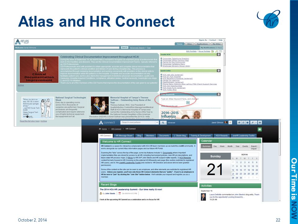 Atlas and HR Connect