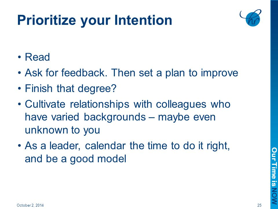 Prioritize your Intention