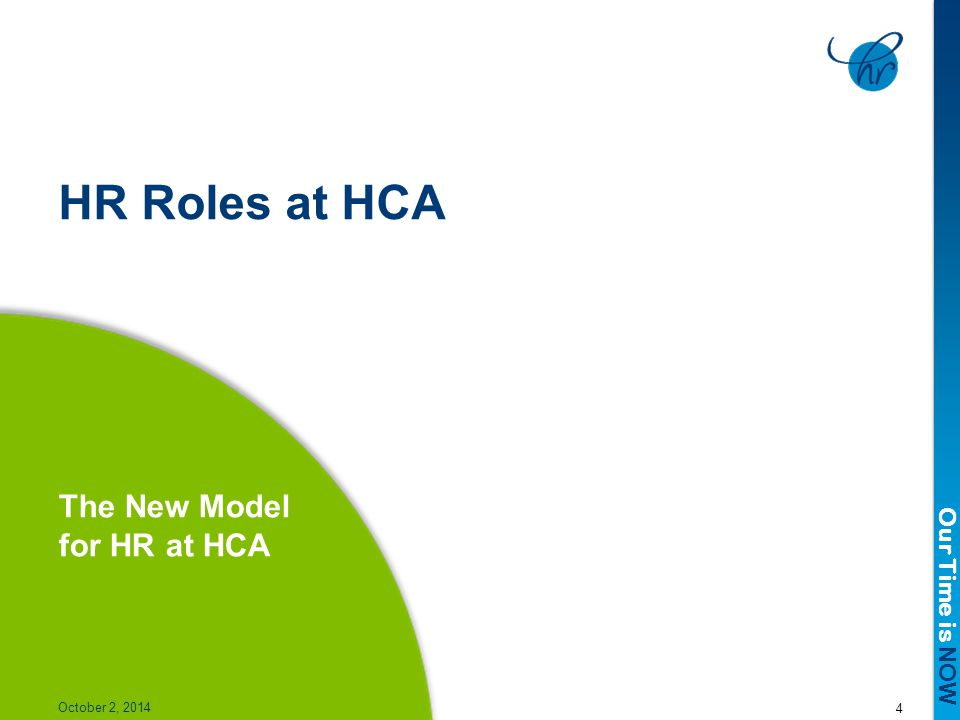 The New Model for HR at HCA