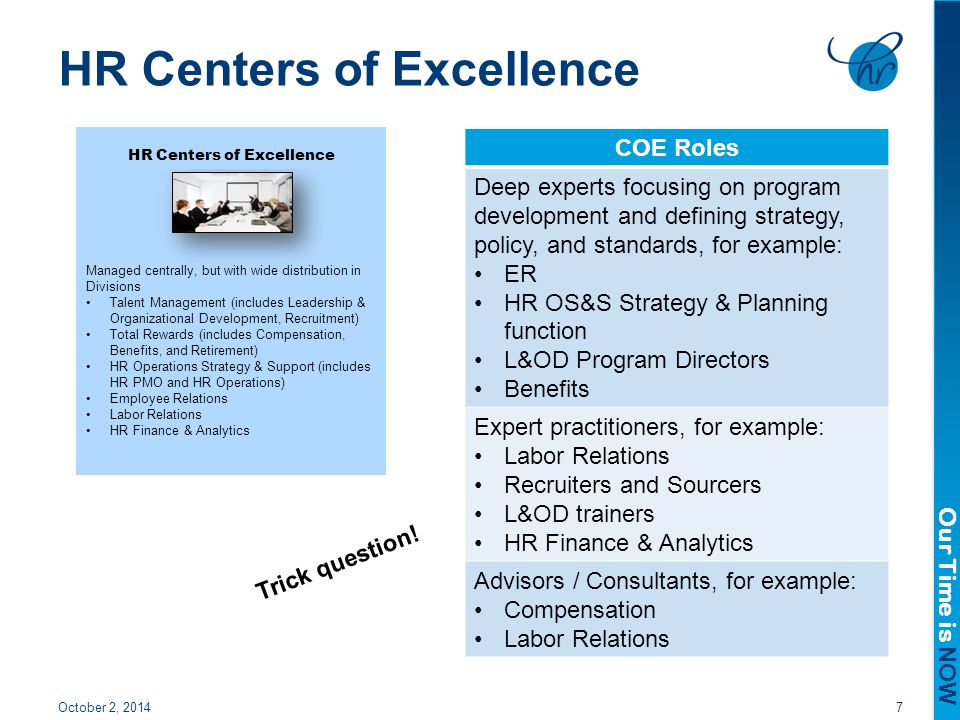 HR Centers of Excellence