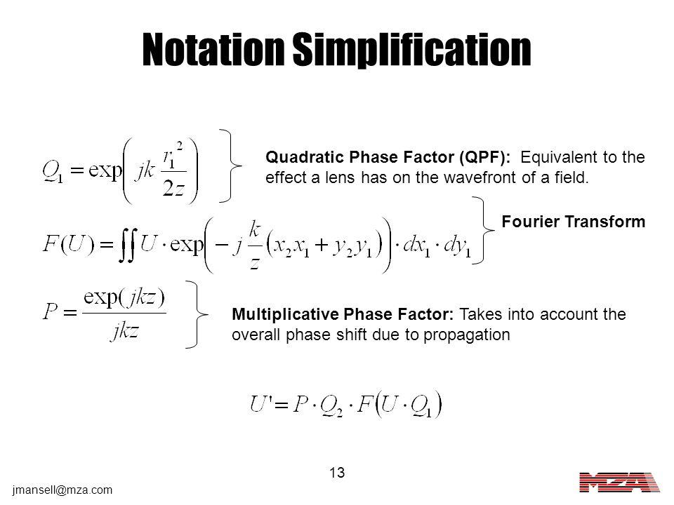 Notation Simplification
