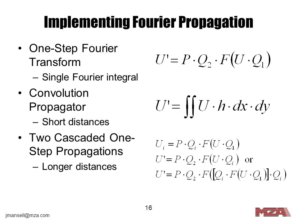 Implementing Fourier Propagation