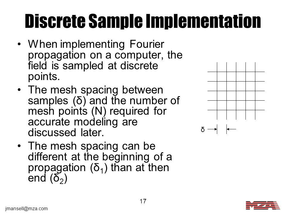 Discrete Sample Implementation