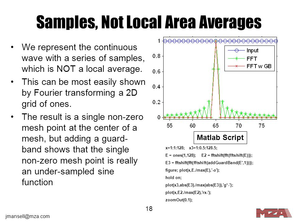 Samples, Not Local Area Averages